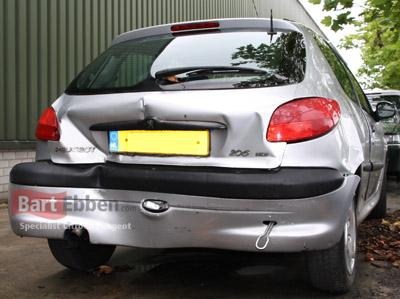 Peugeot 206 Ruecklicht-Stossstange und heckklappe Gebrauchtteile