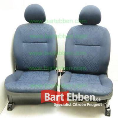 Gebrauchter Fahrersitz - Beifahrersitz Peugeot Partner blau Booster 2 F889 Sofis F841 Verkleidung